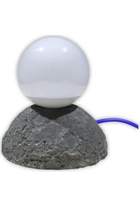 Beton Masa Lambası Moon
