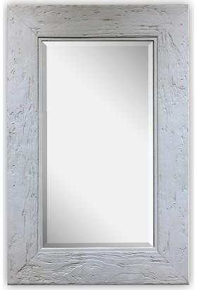 Beton Duvar Aynası Ahşap Doku Görünümlü