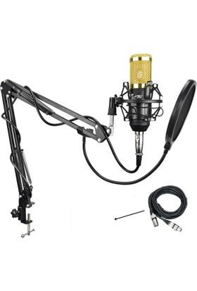 Lastvoice BM800 Condenser Mikrofon + Shock Mount + Stand + Pop Filtre