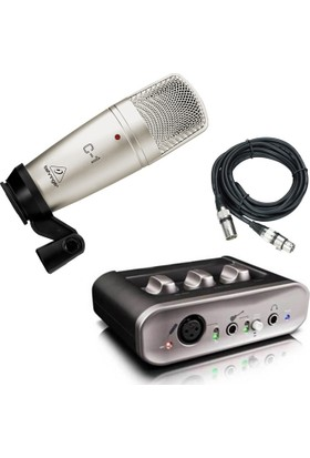 Lastvoice Fast Track Usb Ses Kartı ve Behringer C-1 Condenser Mikrofon Set