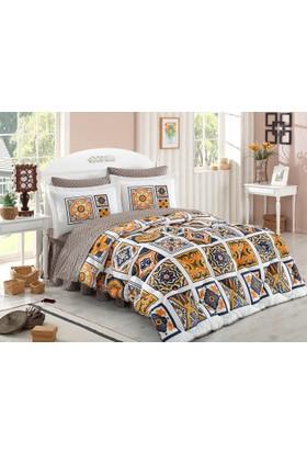 Hobby Mozaique Sarı Tek Kişilik Poplin Uyku Seti