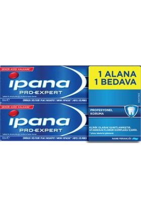 ipana Pro-Expert Diş Macunu Profesyonel Koruma Nane 1 + 1 (100 ml + 100 ml)