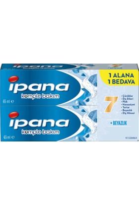 ipana Komple Bakım Diş Macunu + Ağız Bakım Suyu Ferahlık ve Beyazlık 1 + 1 (65 ml + 65 ml)