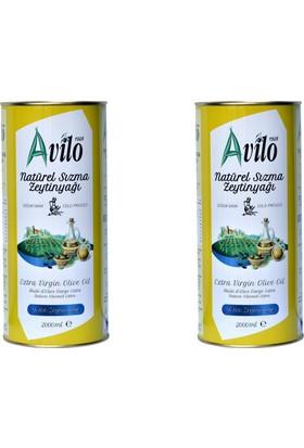 Avilo Soğuk Sıkım Natürel Sızma Zeytinyağı 2 x 2 lt