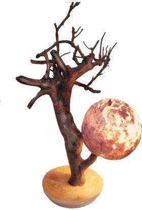 Kum Başlıklı Ağaç Masa Lambas