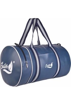 49e0b01be12f Sailor SS-4107 Lacivert Silindir Spor - Fitness ve Seyahat Çantası A+  Kalite ...