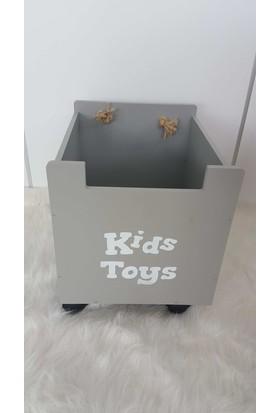 Samsori Çocuk Odası Mobilyası Ahşap Oyuncak Kutusu