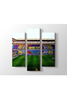 Dekorme Fenerbahçe Stad 3 Parçalı Kanvas Tablo