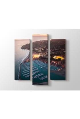 Dekorme Santa Barbara, Ca Neighborhoods - The Westside 3 Parçalı Kanvas Tablo