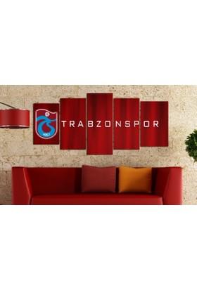 Dekorme Tırabzonspor 5 Parçalı Kanvas Tablo