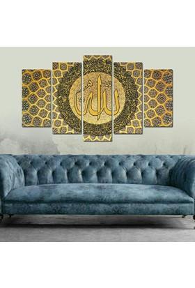 Dekorme Allah C.C. 5 Parçalı Kanvas Tablo