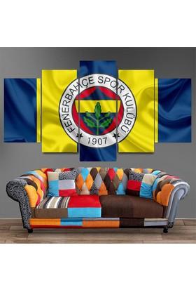 Dekorme Fenerbahçe 5 Parçalı Kanvas Tablo