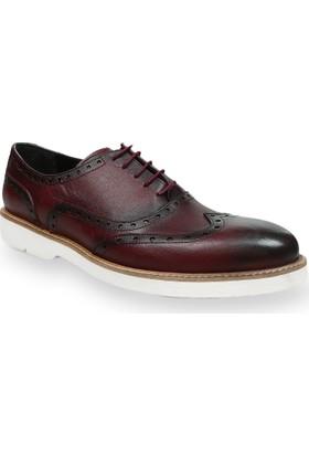Centone Erkek Bordo Deri Ayakkabı -18-5012