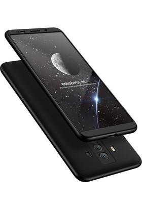 Case 4U Huawei Mate 10 Pro Kılıf 360 Derece Korumalı Tam Kapatan Koruyucu Sert Arka Kapak - Siyah