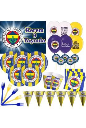 Fenerbahçe 16 Kişilik Parti Seti + İsimli Afiş