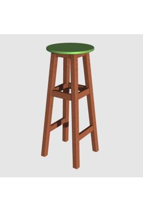 Arbre Bar Taburesi 75 Cm Kestane Kızıl Yeşil