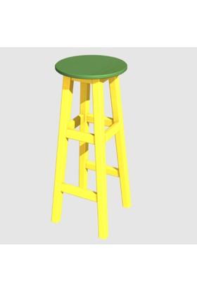 Arbre Bar Taburesi 75 Cm Sarı İskelet Yeşil