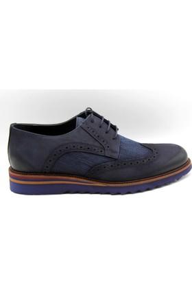 Kingwest Klasik Lacivert Nubuk Eva Taban Erkek Ayakkabı