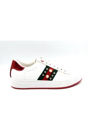 Ony Gündelik Beyaz Kadın Ayakkabı