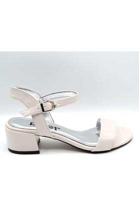 Palet Kadın Klasik Ten Rengi Rugan Açık Ayakkabı