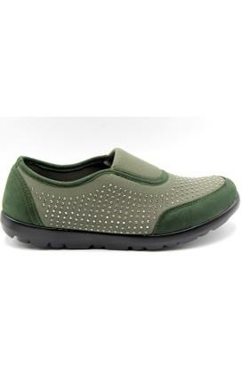 Tofima Gündelik Yeşil Kadın Ayakkabı