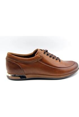 White World Bağlı Taba Günlük Deri Erkek Ayakkabı