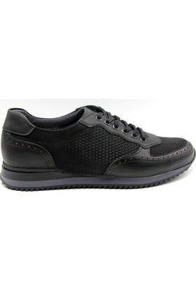 White World Bağlı Siyah Günlük Deri Erkek Ayakkabı