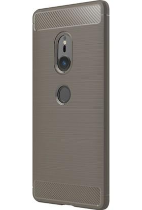 Microsonic Sony Xperia XZ2 Kılıf Room Silikon Gri