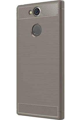 Microsonic Sony Xperia XA2 Kılıf Room Silikon Gri