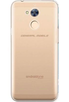 Microsonic General Mobile GM8 Kılıf Transparent Soft Beyaz