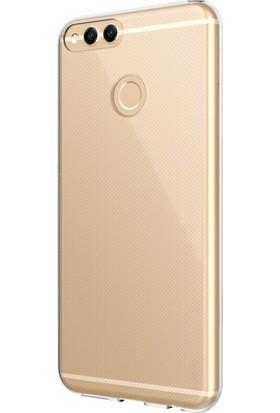 Microsonic Honor 7X Kılıf Transparent Soft Beyaz
