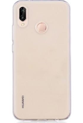 Microsonic Huawei P20 Lite Kılıf Transparent Soft Beyaz