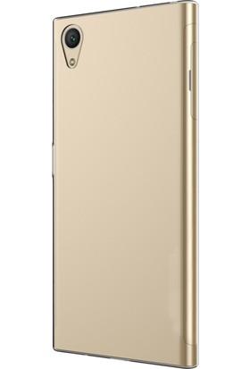 Microsonic Sony Xperia XA1 Plus Kılıf Transparent Soft Beyaz