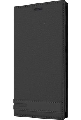 Microsonic Sony Xperia XA1 Plus Kılıf Gizli Mıknatıslı Delux Siyah