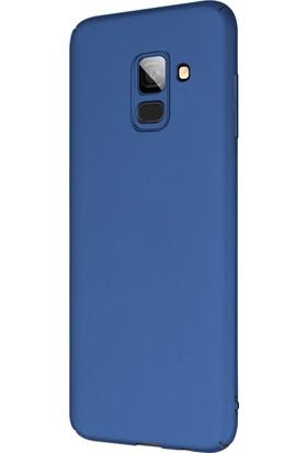 Microsonic Samsung Galaxy A8 Plus 2018 Kılıf Premium Slim Lacivert