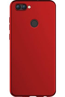 Microsonic Matte Silicone Huawei P Smart Kılıf Bordo