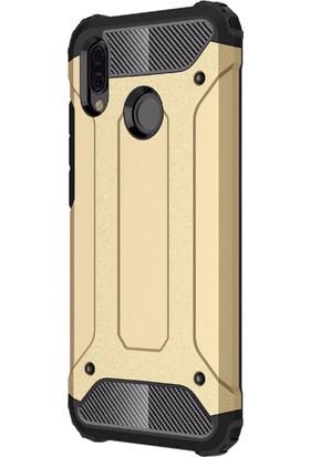 Microsonic Huawei P20 Lite Kılıf Rugged Armor Gold