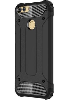Microsonic Huawei P Smart Kılıf Rugged Armor Siyah