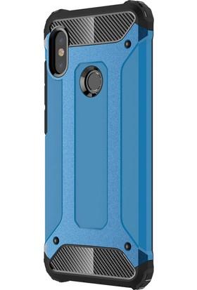 Microsonic Xiaomi Redmi Note 5 Pro Kılıf Rugged Armor Mavi