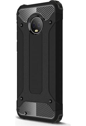 Microsonic Motorola Moto G6 Kılıf Rugged Armor Siyah