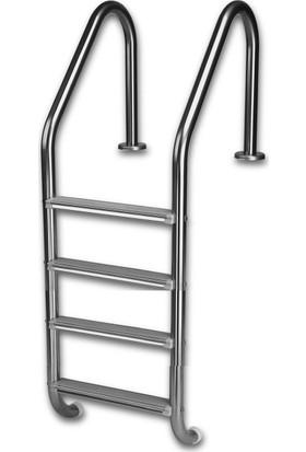 Gemaş Standart 4 Basamaklı 304 Model Paslanmaz Havuz Merdiveni