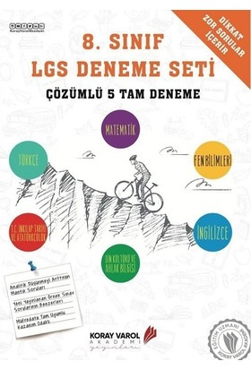 8. Sınıf LGS Deneme Seti (Çözümlü 5 Tam Deneme)
