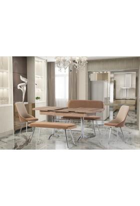 Gül Masa Sandalye Mutfak Masa Sandalye ve Bank Takımı