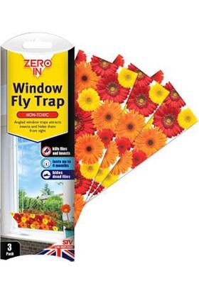 Zero In Window Fly Trap Pencere Sinek Yapışkanı 3'lü