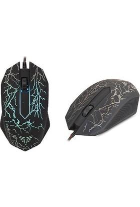 Everest KMX-88 Oyuncu USB Kablolu Q Klavye Mouse Set - Siyah