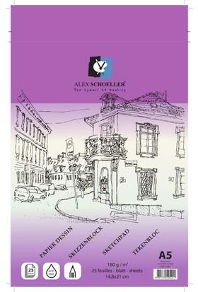 Alex Eskiz Blok A4 180 Gr 25'Li Alx -1570