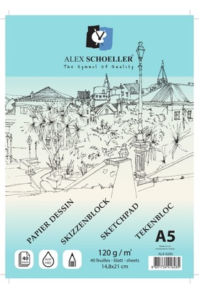 Alex Eskiz A5 120 Gr Spiralli 40Yaprak Alx -0285