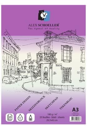 Alex Eskiz Blok A3 180 Gr 25'Li Alx -1587