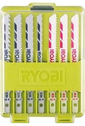 Ryobi RAK10JSB 10 Parça T Tipi Ahşap/Metal Dekupaj Bıçak Seti