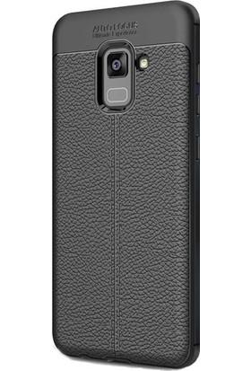 Case 4U Samsung Galaxy A8 2018 Kılıf Darbeye Dayanıklı Niss Siyah